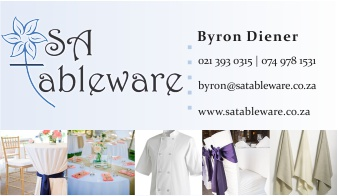 SA Tableware Business Card