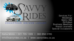 Savvy Rides Business Card