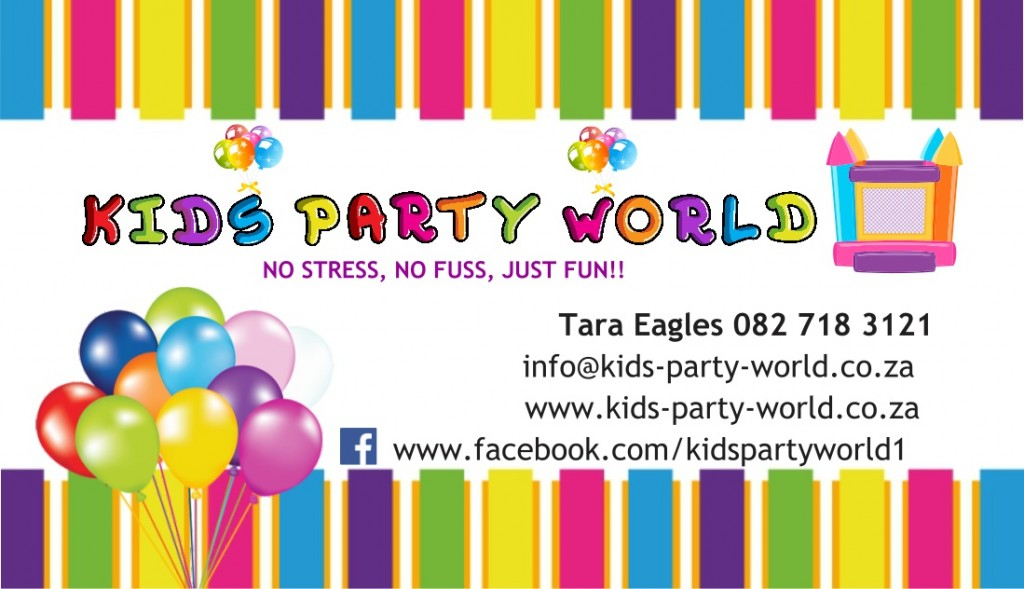 Kids Party World Business Card