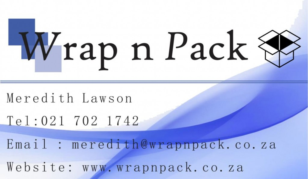 Wrap n Pack Business Card